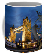 Tower Bridge The Dolphin And The Girl Coffee Mug