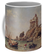 Tower Of Erchia, Gulf Of Salerno, 1849 Oil On Canvas Coffee Mug