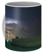 Tower Strike Over Fields Coffee Mug