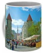 Towers As Gateways To Old Town Tallinn-estonia Coffee Mug