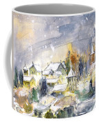 Town By The Rhine Falls In Switzerland Coffee Mug