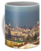 Town Of Bjelovar Winter Skyline Coffee Mug