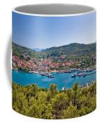 Town Of Kukljica Aerial View Coffee Mug