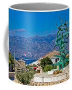 Town Of Razanac With Velebit Background Coffee Mug