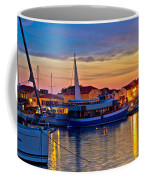 Town Of Vodice Harbor And Monument Coffee Mug