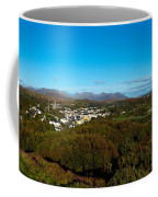 Town On A Hill With 12 Pin Mountain Coffee Mug