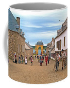 Townsfolk On Street To The Sea In Louisbourg Living History Museum-174 Coffee Mug
