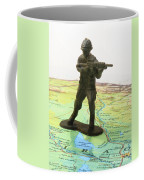 Toy Solider On Iraq Map Coffee Mug