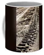 Tractor Tracks In Dry Mud Coffee Mug