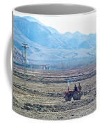 Tractor Used In Farming Along The Road To Shigatse-tibet Coffee Mug