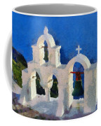 Traditional Belfry In Oia Town Coffee Mug