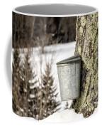 Traditional Sap Bucket On Maple Tree In Vermont Coffee Mug