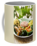 Traditional Vegetarian Curry With Rice In Bali Indonesia Coffee Mug