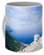 Traditional Windmill On Karpathos Island - Greece Coffee Mug