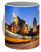 Traffic On The Solidarity Avenue In Warsaw Coffee Mug