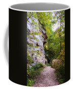 Trail Beside The Cliff Wildcat Den State Park Coffee Mug
