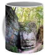 Trail Through The Rocks Wildcat Den State Park Coffee Mug
