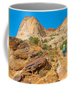 Trail Up To The Tanks From Capitol Gorge Pioneer Trail In Capitol Reef National Park-utah Coffee Mug
