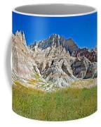 Trailhead For Saddle Pass Trail In Badlands National Park-south Dakota   Coffee Mug