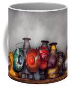 Train - A Collection Of Rail Road Lanterns  Coffee Mug by Mike Savad