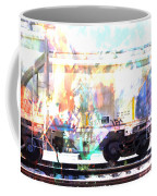 Train Abstract Blend 4 Coffee Mug
