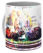 Train Abstract Blend 6 Coffee Mug