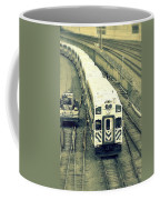 Train Approaching Coffee Mug