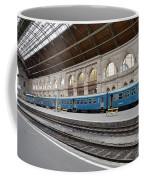 Train At Station Platform Budapest Hungary Coffee Mug