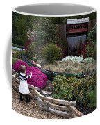 Train Garden And Girl Coffee Mug