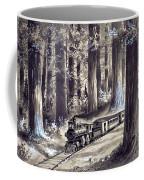 Train In The Redwoods Coffee Mug
