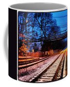 Train Station First Snow Coffee Mug