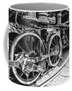 Train - Steam Engine Wheels - Black And White Coffee Mug