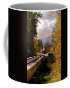 Train Through The Valley Coffee Mug by Robert Frederick