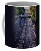 Train Tracks Into Town Coffee Mug