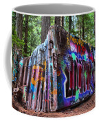 Train Wreck Art In The Forest Coffee Mug