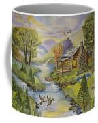 Tranquil Log Cabin Coffee Mug