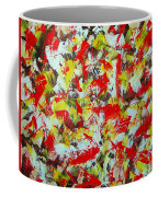 Transitions With Yellow Brown And Red  Coffee Mug
