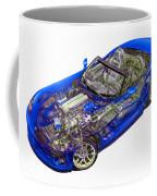 Transparent Car Concept Made In 3d Graphics 1 Coffee Mug