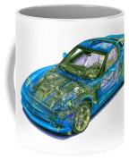 Transparent Car Concept Made In 3d Graphics 11 Coffee Mug