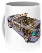 Transparent Car Concept Made In 3d Graphics 6 Coffee Mug