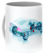 Transparent Car Concept Made In 3d Graphics 7 Coffee Mug