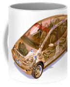 Transparent Car Concept Made In 3d Graphics 9 Coffee Mug