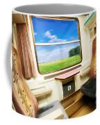 Travel In Comfortable Train. Coffee Mug