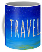 Travel Word Art Coffee Mug