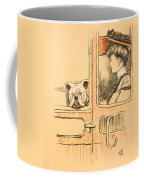 Traveling In First Class Coffee Mug by Cecil Charles Windsor Aldin