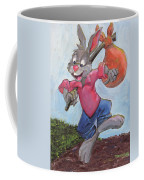 Traveling Rabbit Coffee Mug