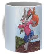 Traveling Rabbit Coffee Mug by Terry Lewey
