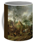 Travellers At An Inn Coffee Mug