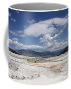 Travertine Hill Of Mammoth Hot Springs  Coffee Mug
