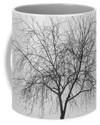 Tree Abstract In Black And White Coffee Mug